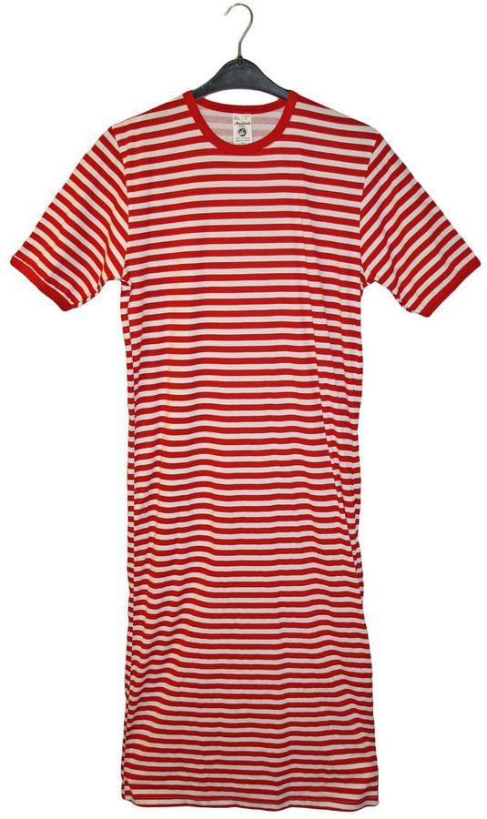 Kostum Clown Nachthemd Shirt Ringel Muster Streifen Cosplay Karneval