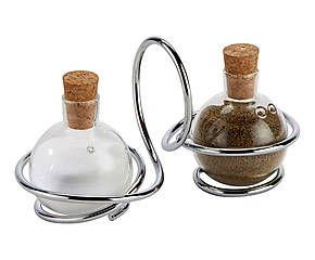 Support pour sel et poivre verre, transparent - L19