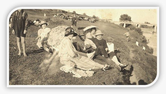 a picnic by the Hawkesbury River at Windsor – early 1920s.