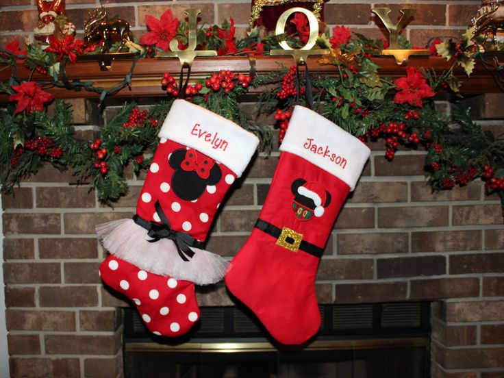 Mickey Mouse Christmas stocking, Minnie Mouse Christmas stockings, Disney Christmas stockings,Personalized Christmas decor,Family Christmas by DollyWollySewing on Etsy