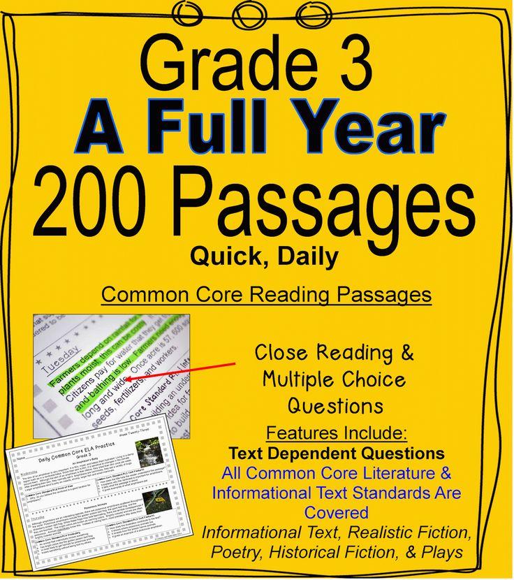 37 best Common Core Reading Passages images on Pinterest | Common ...