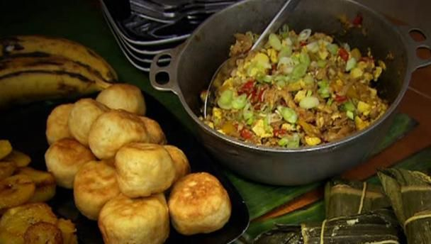 BBC Food - Recipes - Saltfish and ackee with fried dumplings