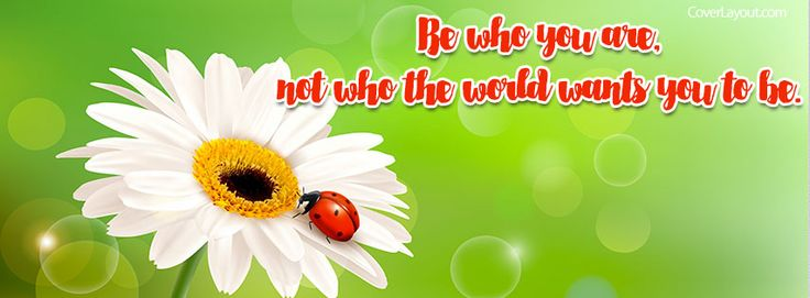 Be Who You Are Facebook Cover coverlayout.com