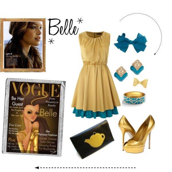 """Belle disney Princess Vogue"" by Ashley B"