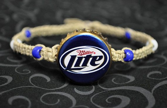 Blue and Gold Miller Lite Recycled Beer Cap by BeautyntheBeach, $11.00