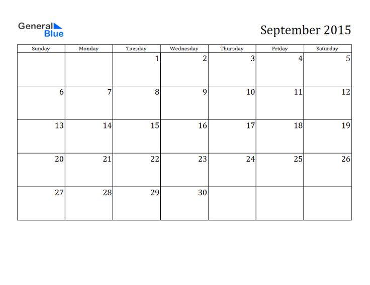 sept 2015 calendar