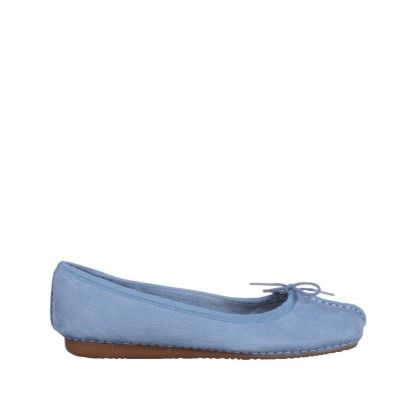 Balerini Clarks albastri, din nabuc