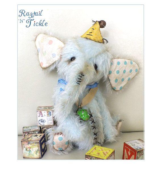 Ragtail 'n' Tickle OOAK Artist bear CharlotteBirdfairies, $254.00