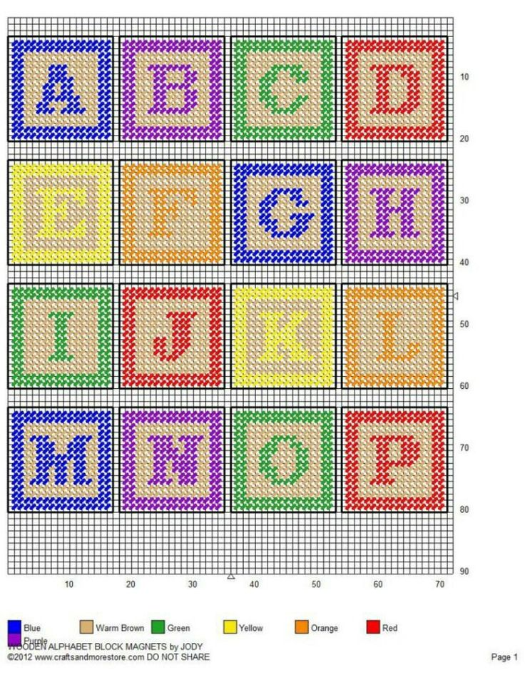Plastic Canvas Letter, Baby Alphabet Cross Stitch, Baby Plastic Canvas ...