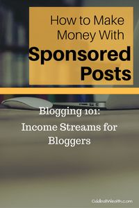 Blogging 101- Income Streams for Bloggers. Learn How to Make Money with Sponsored Posts. Article url: http://oddballwealth.com/how-to-make-money-with-your-blog/ If you've ever wondered how to make money blogging, this article is for you. This post explains how bloggers make money and create multiple revenue streams on their blogs.  #Blog #Blogging #Bloggers #MakeMoney #ExtraIncome #Finance