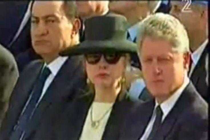 Mubarek&Clinton's/Yitzhak Rabin  Funeral
