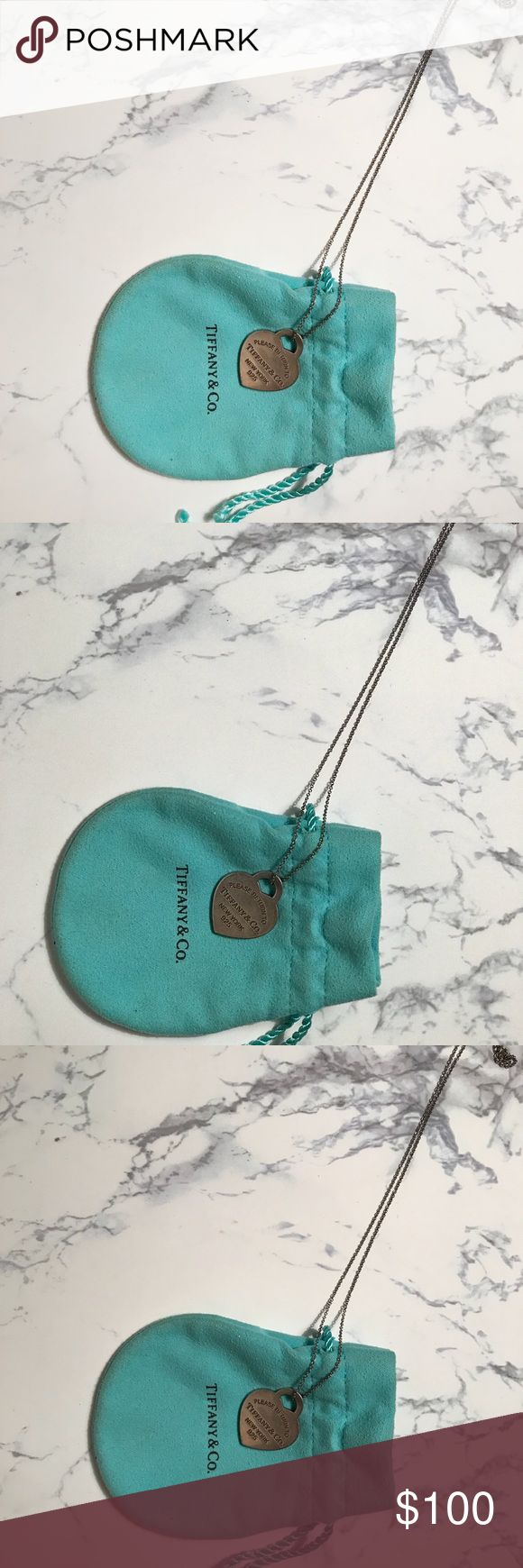 Tiffany Heart Necklace I'm good condition. Little wear. Tiffany & Co. Jewelry Necklaces