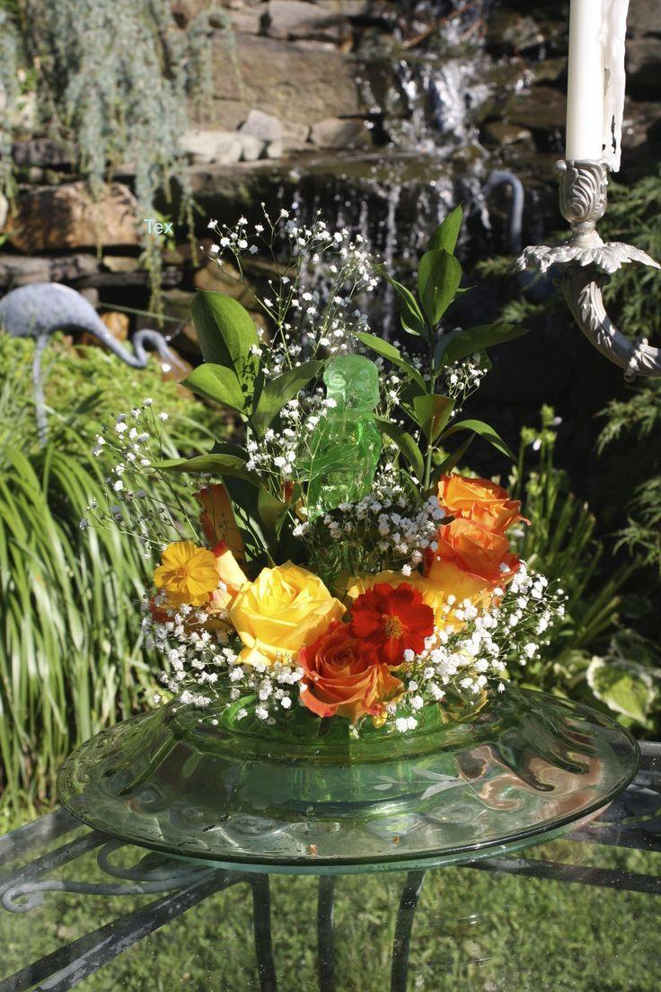 1929 Glass Flower Holder Figurine