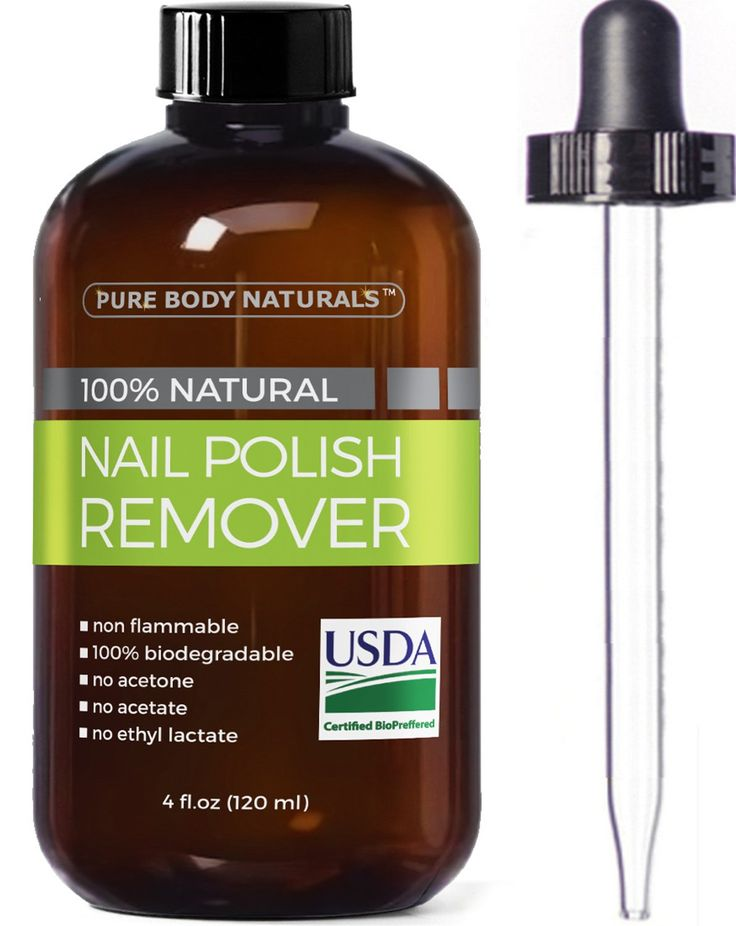 Nail Polish Remover 100% Natural - USDA Bio-certified Non-Toxic, Acetone-Free Nail Polish Remover, Effective UV Gel Nail Polish Remover Won't Dry Nails, Moisturizes Cuticles Strengthens Weak Nails 4oz