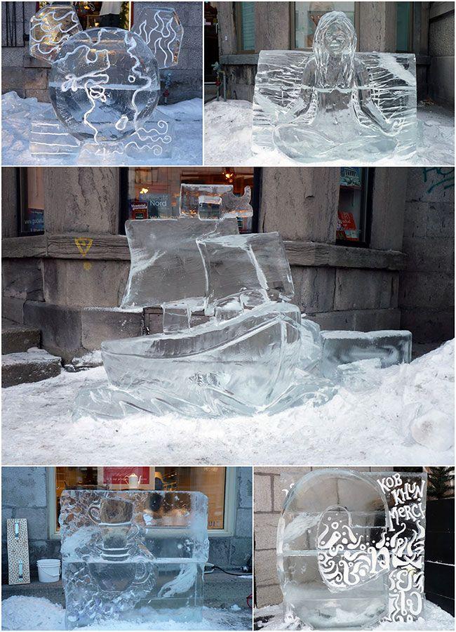 {Montréal} Les jolies sculptures de glace