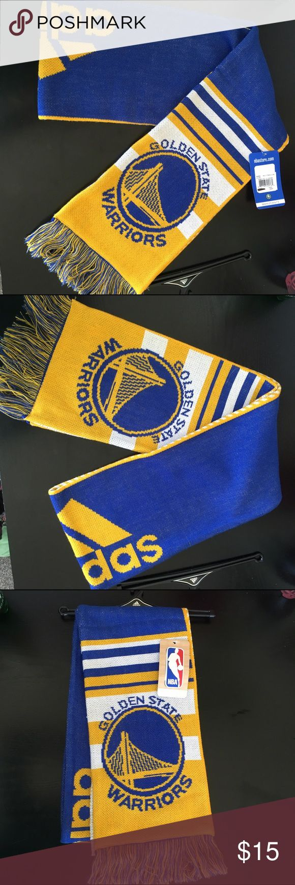 Golden State Warriors Scarf Basketball Gold State Warriors Scarf brand new. Got as gift, nothing wrong with it. From NBA store .com adidas Accessories Scarves & Wraps