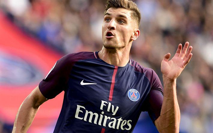 Télécharger fonds d'écran Thomas Meunier, match PSG, footballers, soccer, Ligue 1, Paris Saint-Germain, Liga 1
