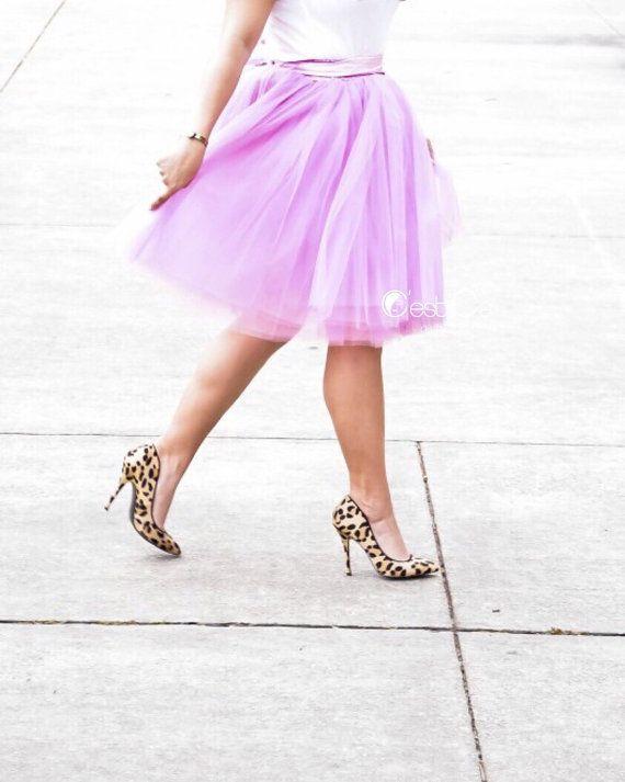 Clarisa - Lilac Tulle Skirt, Light Purple Puffy Princess Tutu, Bridesmaids Skirt, Midi Adult Tulle Skirt, Plus Size Tulle Skirt, Wholesale https://www.etsy.com/listing/235858695/clarisa-lilac-tulle-skirt-light-purple