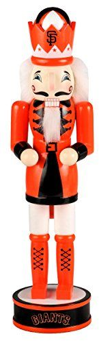 "San Francisco Giants Official MLB 14 inch 14"" Christmas Holiday Nutcracker:   Put your team pride on display with this 14 Holiday Nutcracker from Forever Collectibles. Decked out in a team colors this nutcracker is gearing up for the holidays. Finish off your Christmas decor with this highly collectible nutcracker. Officially licensed."""