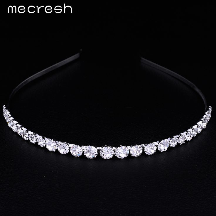 Mecresh Crystal Rhinestone Beads Bridal Hair Accessories Hairbands Hair Combs Wedding Jewelry Wedding Accessories TS001