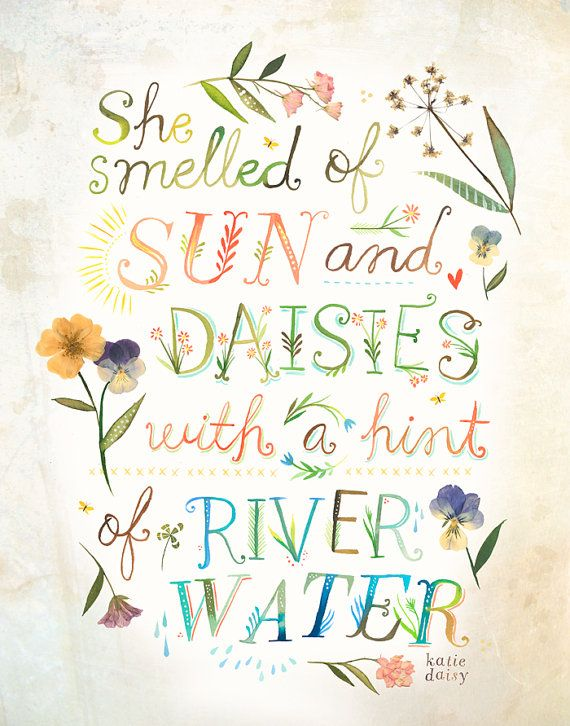 Sun and Daisies Print Watercolor Quote Wall art by thewheatfield                                                                                                                                                                                 More