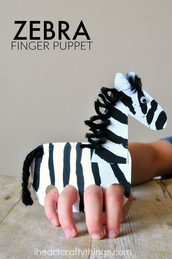 This cute finger puppet craft is fun for kids to make, and kids love playing with their zebra by making it gallop around the house. Perfect for preschoolers who love zoo animals!