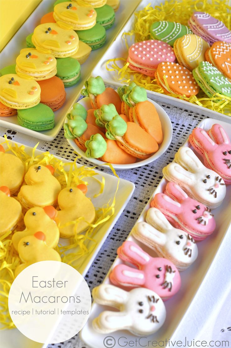 Easter Egg Macarons recipe and tutorial and template