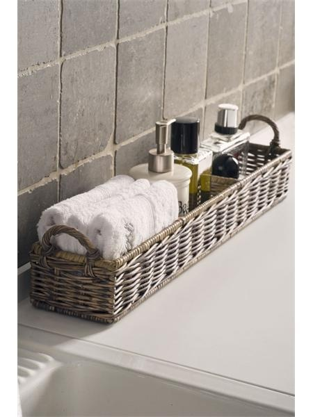 Great idea special if you have no storage using baskets always look's so clean and beautiful.