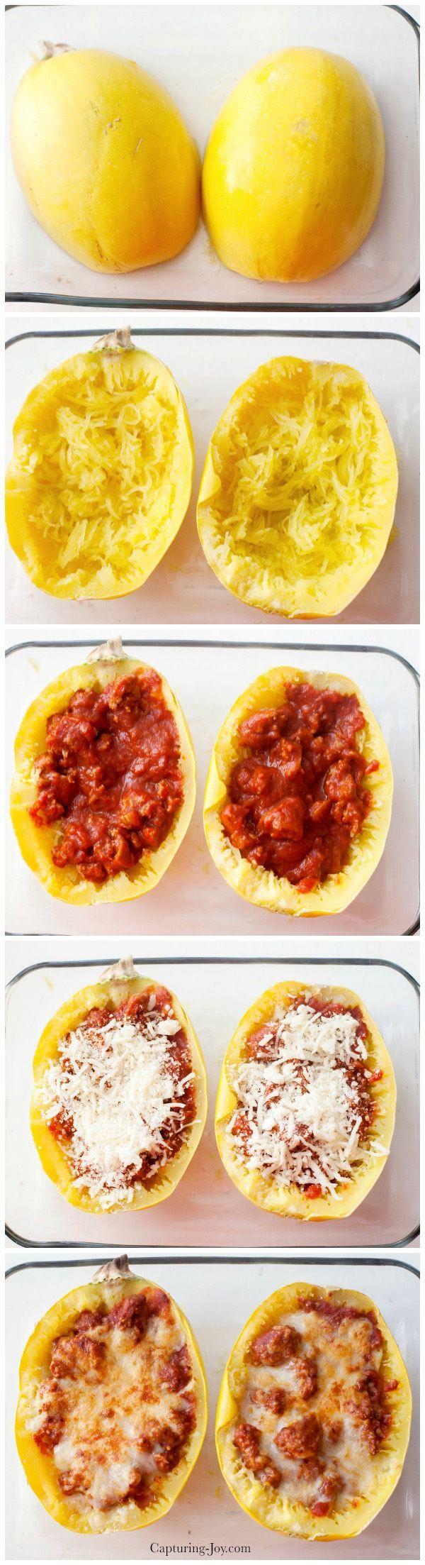 Spaghetti Squash Boat Recipe!  A healthy dinner for the whole family!  www.kristendukephotography.com: