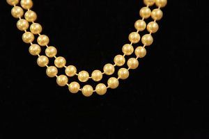 Flapper Pearls Light Yellow Necklace by GenusJewels on Etsy