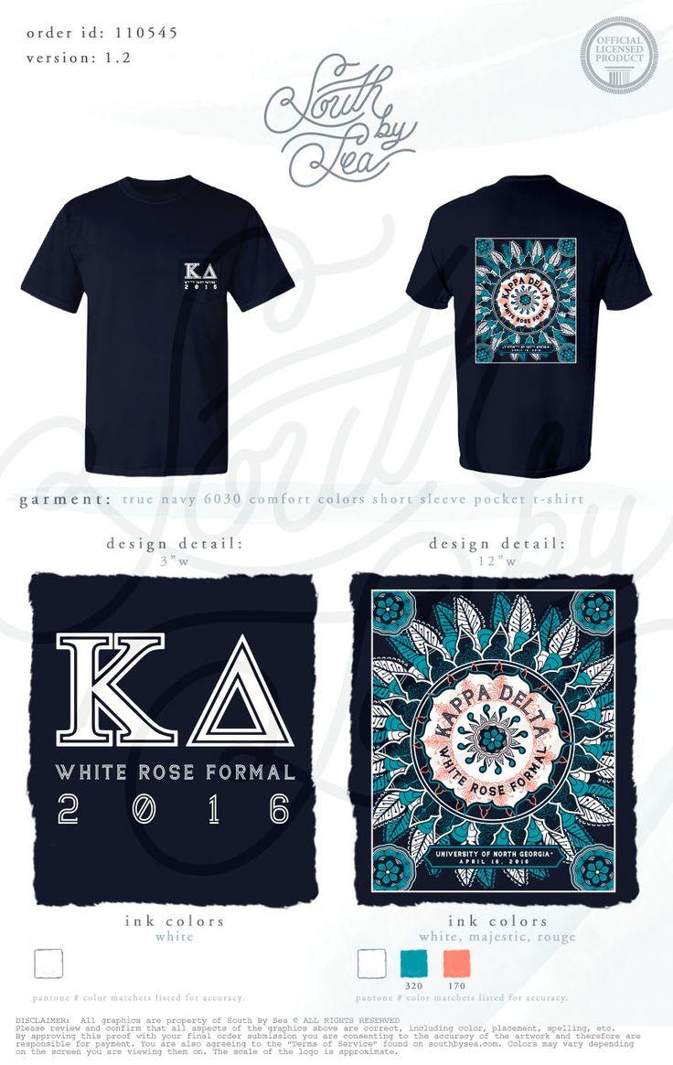 Design t shirt university - Kappa Delta Kd White Rose Formal Tribal T Shirt Design South