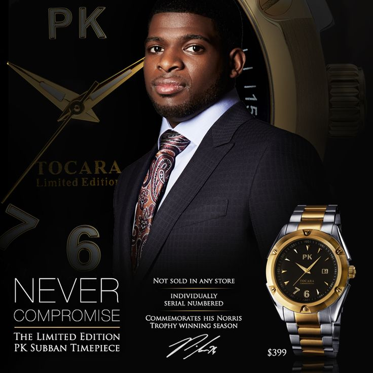 The Limited Edition PK Subban watch. Designed by PK, brought to you exclusively by Tocara!