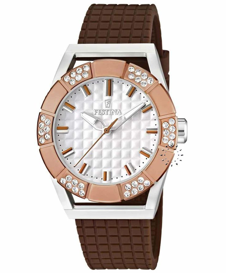 FESTINA Crystal Brown Rubber Strap Τιμή: 110€ http://www.oroloi.gr/product_info.php?products_id=37503