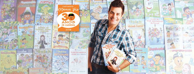Cartunista Marcos Vaz comemora Jubileu de Pérola: 30 anos de carreira