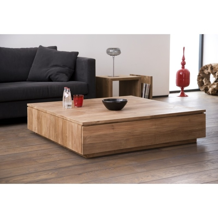 1000 images about ethnicraft on pinterest - Table basse carree wenge ...