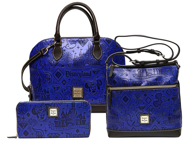 Disneyland 60th Anniversary Dooney & Bourke bags -- embossed leather collection