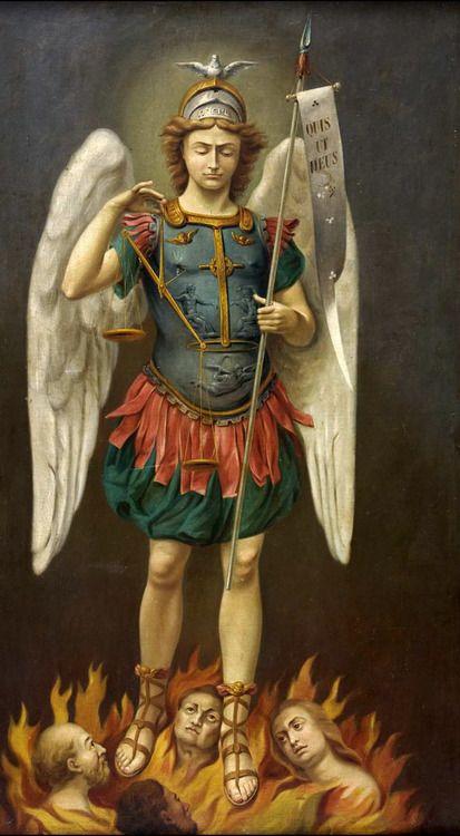 Saint Michael Archangel,Salvador, Brazil. Anonymous Brazilian painter,19th century