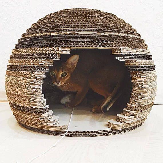 Cat House Cat House Modern Pet House Cat House Sphere Cat Cardboard Cat House Cat Bed Modern Cat