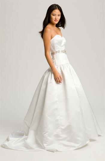 Faviana 'Megan' Strapless Satin Gown: Gown Wedding, Wedding Gowns, Gowns Wedding