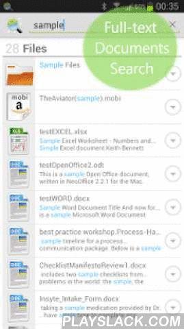 Andro Search (Files Contacts)  Android App - playslack.com ,  Full-text direct zoeken over je documenten / bestanden, contacten en apps - Een efficiënte krachtige zoekmachine en launcher op je Android .HOOFDKENMERKEN:✔ Files Search - op naam, extensie , en Fulltext Search inside : pdf's, Office , ebooks , etc. ( zie formaat hieronder ) .✔ contactpersonen Zoeken - op naam , notities , e-mails , telefoons, postadressen , organisatie .✔ APPS Launcher - op naam, en dan app beschrijving op Google…