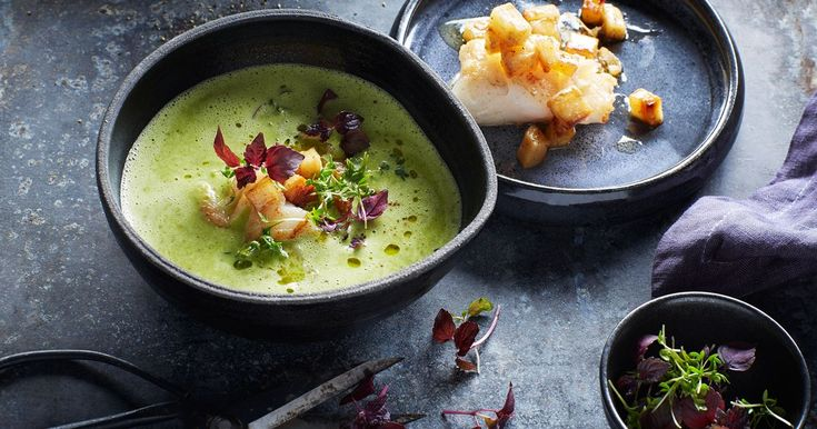 Krämig soppa på persiljerot med torsk och krasse - Recept - Arla