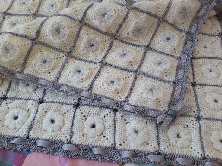 Colcha em crochet para bebe