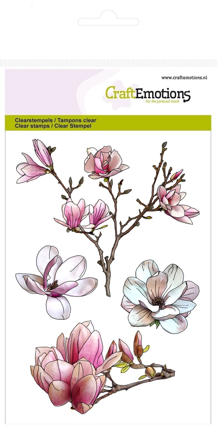 CraftEmotions clearstamp A6 Magnolia Spring Time (130501/1249)