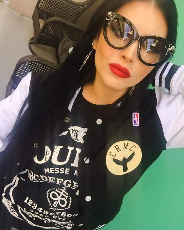 """Satanic Bulls"" College Jacket Available at www.crmc-clothing.co.uk 
