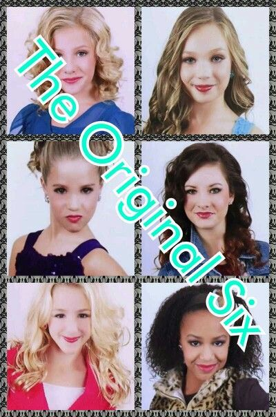 Dance Moms - the original six. Paige, Maddie, Mackenzie, Brooke, Chloe and Nia. :)