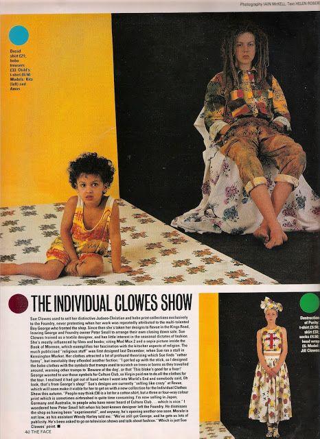 Sue Clowes: The Face Magazine September 1982