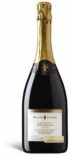 Naam: VQA Niagara Peninsula, Peller Estate Ice Cuvée Sparkling Non-Vintage Classic  Producent: Peller Estate  Land/gebied: Canada, Ontario (Niagara-on-the-Lake): VQA Niagara Peninsula  Type: sparkling wine