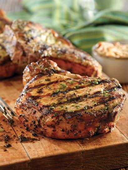 Scrumpdillyicious: Greek Marinated Pork Chops with Lemon & Oregano