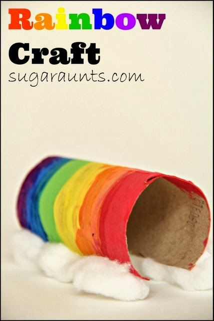 Recycled Cardboard tubes make great rainbows! Perfect for pretend play. By Sugar Aunts.