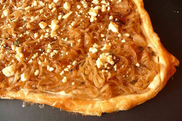 Caramelized Onion & Gorgonzola Tart by CookinCanuck, via Flickr